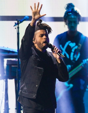 The Weeknd performs during the iHeartRadio Music Festival at the MGM Grand Garden Arena in Las Vegas on Saturday, Sept. 19, 2015. Chase Stevens/Las Vegas Review-Journal Follow @csstevensphoto