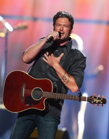 Blake Shelton performs during the iHeartRadio Music Festival at the MGM Grand Garden Arena in Las Vegas on Saturday, Sept. 19, 2015. Chase Stevens/Las Vegas Review-Journal Follow @csstevensphoto