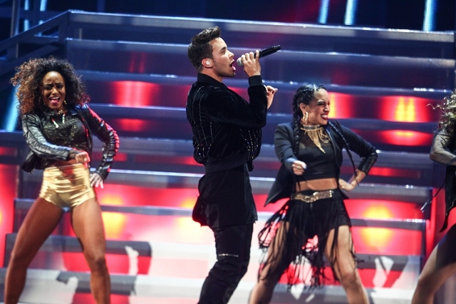 Prince Royce performs during the iHeartRadio Music Festival at the MGM Grand Garden Arena in Las Vegas on Saturday, Sept. 19, 2015. (Chase Stevens/Las Vegas Review-Journal) Follow @csstevensphoto