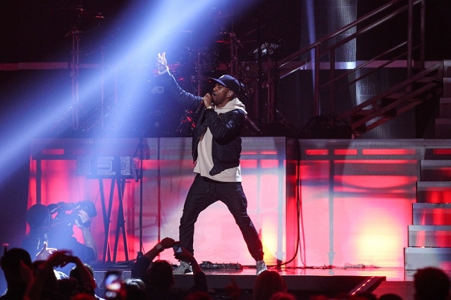 Big Sean performs during the iHeartRadio Music Festival at the MGM Grand Garden Arena in Las Vegas on Saturday, Sept. 19, 2015. (Chase Stevens/Las Vegas Review-Journal) Follow @csstevensphoto