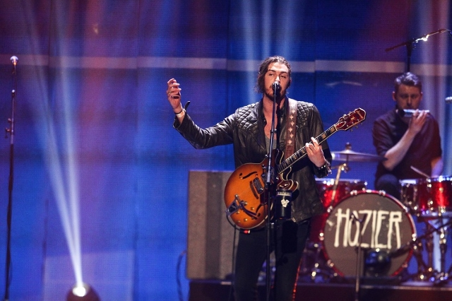Hozier performs during the iHeartRadio Music Festival at the MGM Grand Garden Arena in Las Vegas on Saturday, Sept. 19, 2015. (Chase Stevens/Las Vegas Review-Journal) Follow @csstevensphoto