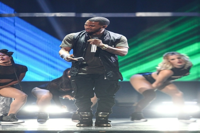 Trey Songz performs during the iHeartRadio Music Festival at the MGM Grand Garden Arena in Las Vegas on Saturday, Sept. 19, 2015. Chase Stevens/Las Vegas Review-Journal Follow @csstevensphoto