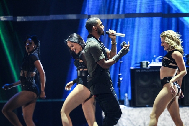 Trey Songz performs during the iHeartRadio Music Festival at the MGM Grand Garden Arena in Las Vegas on Saturday, Sept. 19, 2015.(Chase Stevens/Las Vegas Review-Journal) Follow @csstevensphoto