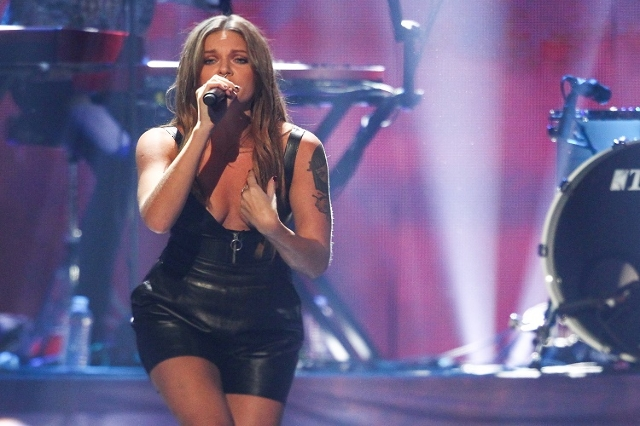 Tove Lo performs during the iHeartRadio Music Festival at the MGM Grand Garden Arena in Las Vegas on Saturday, Sept. 19, 2015. (Chase Stevens/Las Vegas Review-Journal) Follow @csstevensphoto
