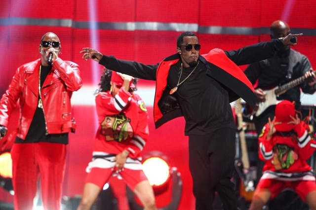 Puff Daddy, right, performs with Mase during the iHeartRadio Music Festival at the MGM Grand Garden Arena in Las Vegas on Saturday, Sept. 19, 2015. (Chase Stevens/Las Vegas Review-Journal) Follow  ...