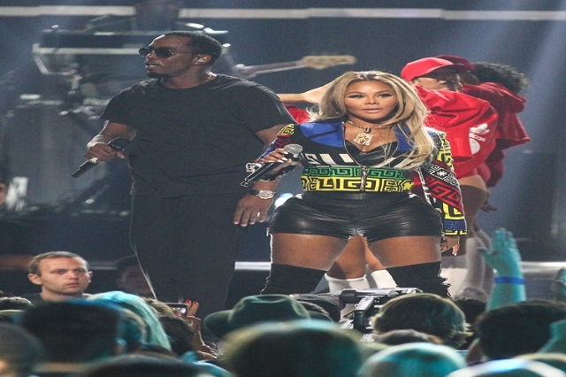 Puff Daddy, left, performs with Lil' Kim during the iHeartRadio Music Festival at the MGM Grand Garden Arena in Las Vegas on Saturday, Sept. 19, 2015. Chase Stevens/Las Vegas Review-Journal  ...