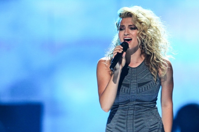 Tori Kelly performs with Puff Daddy, not pictured, during the iHeartRadio Music Festival at the MGM Grand Garden Arena in Las Vegas on Saturday, Sept. 19, 2015. (Chase Stevens/Las Vegas Review-Jou ...
