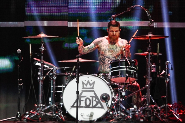 Fall Out Boy performs during the iHeartRadio Music Festival at the MGM Grand Garden Arena in Las Vegas on Sunday, Sept. 20, 2015. Chase Stevens/Las Vegas Review-Journal Follow @csstevensphoto