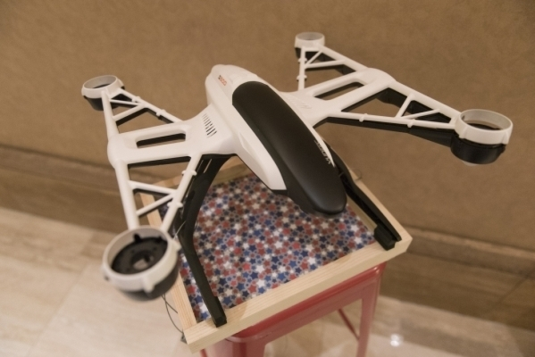 A Yuneec Q500 Typhoon Quadcopter is shown in the convention center hallway at InterDrone at the Rio. Jason Ogulnik/Las Vegas Review-Journal file