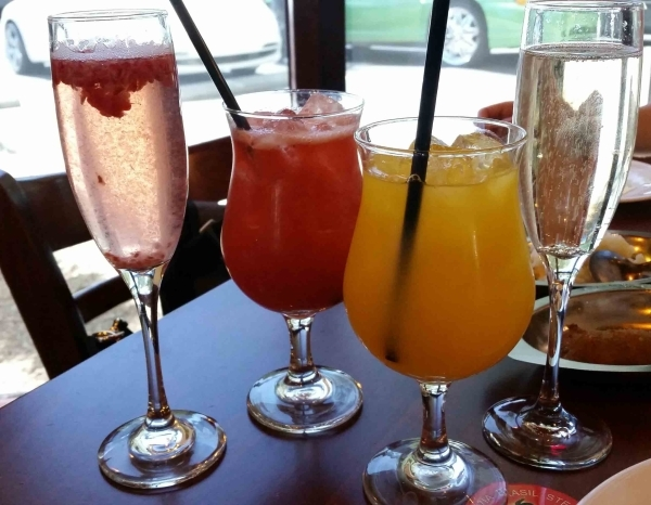 A selection of beverages are shown at Via Brasil Steakhouse, 1225 S. Fort Apache Road. (Lisa Valentine/View)