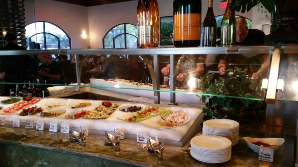 Weekend brunch at Via Brasil Steakhouse, 1225 S. Fort Apache Road, includes the all-you-can-eat gourmet salad bar as well as a made-to-order omelet and waffle station. (Lisa Valentine/View)