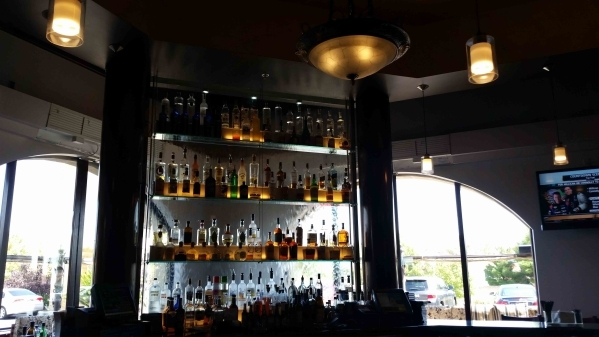 The water feature is shown behind the bar at Via Brasil Steakhouse, 1225 S. Fort Apache Road. (Lisa Valentine/View)