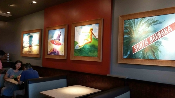 The Habit Burger Grill originated in Santa Barbara, Calif., and carries the California theme over into the dining room of its first Las Vegas Valley location on Hughes Center Drive. (Lisa Valentin ...