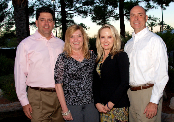 Eric DeBonis, from left, Lisa Wamble, Lori Colvin and Randy Gabe