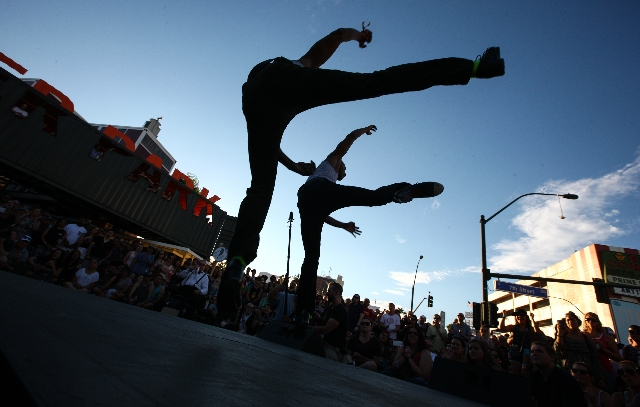 Members of Absinthe perform during the Life is Beautiful festival in downtown Las Vegas on Saturday, Sept. 26, 2015. Chase Stevens/Las Vegas Review-Journal Follow @csstevensphoto