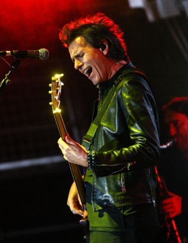 John Taylor of Duran Duran performs during the Life is Beautiful festival in downtown Las Vegas on Saturday, Sept. 26, 2015. Chase Stevens/Las Vegas Review-Journal Follow @csstevensphoto