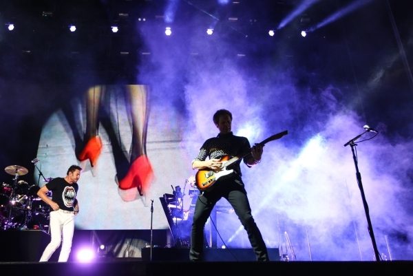 Duran Duran performs during the Life is Beautiful festival in downtown Las Vegas on Saturday, Sept. 26, 2015. Chase Stevens/Las Vegas Review-Journal Follow @csstevensphoto