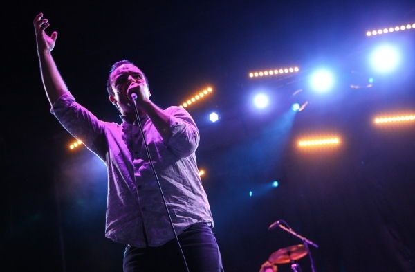 Samuel Herring of Future Islands performs during the Life is Beautiful festival in downtown Las Vegas on Saturday, Sept. 26, 2015. Chase Stevens/Las Vegas Review-Journal Follow @csstevensphoto