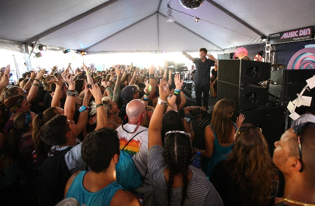 New Politics performs at the Toyota Music Den during the Life is Beautiful festival in downtown Las Vegas on Saturday, Sept. 26, 2015. Chase Stevens/Las Vegas Review-Journal Follow @csstevensphoto