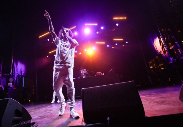 Ab-Soul performs during the Life is Beautiful festival in downtown Las Vegas on Saturday, Sept. 26, 2015. Chase Stevens/Las Vegas Review-Journal Follow @csstevensphoto