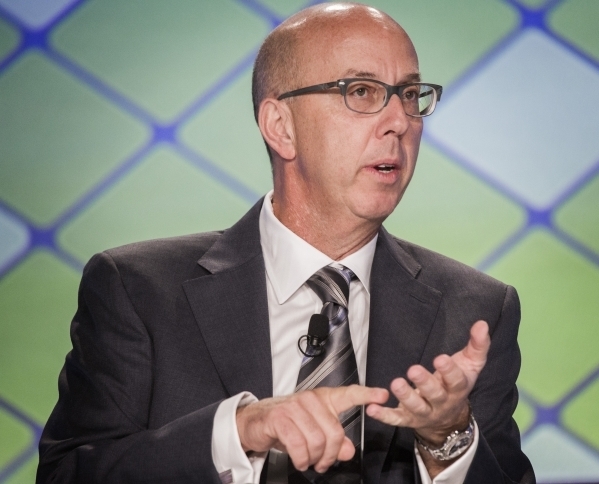 Gavin Isaacs, CEO of Scientific Games, is shown during the a roundtable discussion at the Global Gaming Expo in the Sands Expo and Convention Center on Wednesday, Sept. 30,2015. Jeff Scheid/ Las V ...