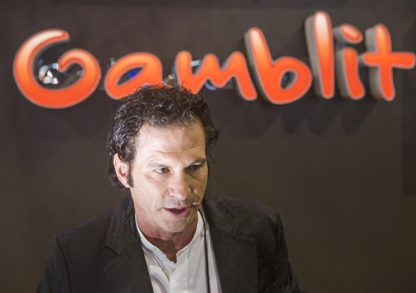 Eric Meyerhofer, CEO of Gamblit Gaming, discusses skill-based gaming at the Global Gaming Expo in the Sands Expo and Convention Center on Wednesday, Sept. 30, 2015. Jeff Scheid/ Las Vegas Review-J ...