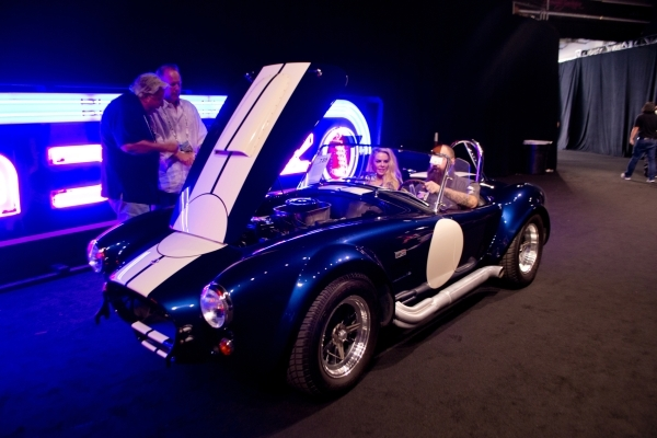 A 427 Shelby Cobra sits backstage during the Barrett-Jackson car auction inside the Mandalay Bay Convention Center on Saturday, Sept. 26, 2015. Daniel Clark/Las Vegas Review-Journal