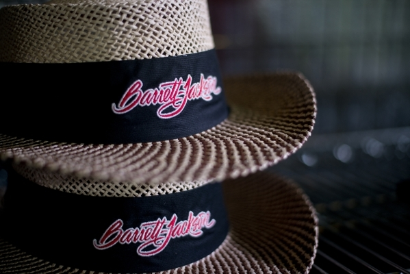 Hats are seem in one of the gift shops during the Barrett-Jackson car auction inside the Mandalay Bay Convention Center on Saturday, Sept. 26, 2015. Daniel Clark/Las Vegas Review-Journal