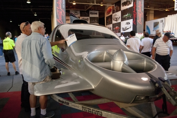 Visitors look at a Concept Sky Commuter Aircraft during the Barrett-Jackson car auction inside the Mandalay Bay Convention Center on Saturday, Sept. 26, 2015. Daniel Clark/Las Vegas Review-Journal