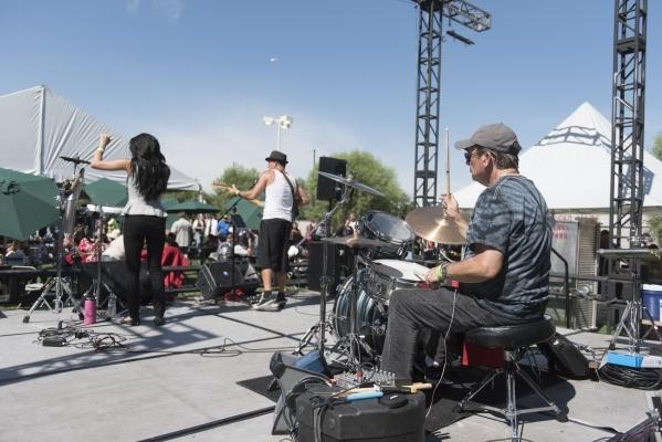 Sina & The Big Bang perform during the Ride for Kids benefit at Town Square Las Vegas in Las Vegas Sunday, Sept. 27, 2015. Jason Ogulnik/Las Vegas Review-Journal