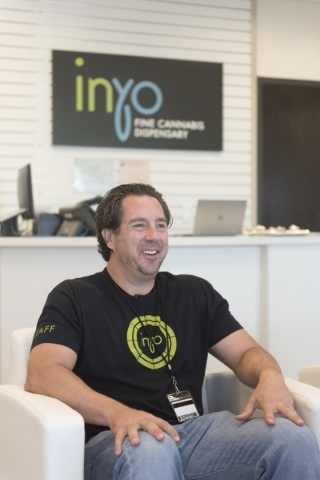 Inyo Fine Cannabis Dispensary co-owner David Goldwater interviews at the Las Vegas dispensary Wednesday, Sept. 30, 2015. Jason Ogulnik/Las Vegas Review-Journal