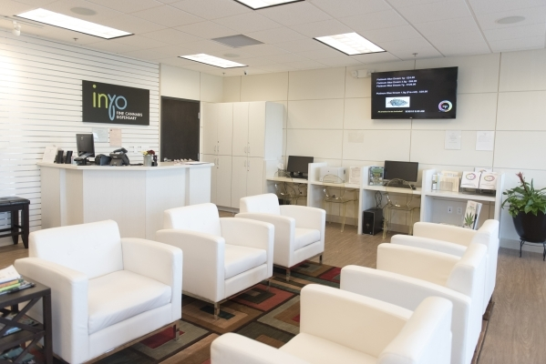 The lobby of Inyo Fine Cannabis Dispensary in Las Vegas is shown Wednesday, Sept. 30, 2015. Jason Ogulnik/Las Vegas Review-Journal