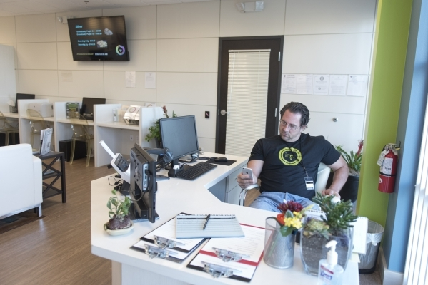 Inyo Fine Cannabis Dispensary co-owner David Goldwater is shown in the Las Vegas dispensary Wednesday, Sept. 30, 2015. Jason Ogulnik/Las Vegas Review-Journal