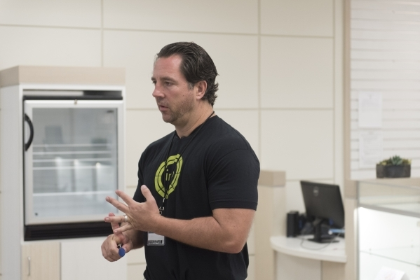 Inyo Fine Cannabis Dispensary co-owner David Goldwater gives a tour of the Las Vegas dispensary Wednesday, Sept. 30, 2015. Jason Ogulnik/Las Vegas Review-Journal