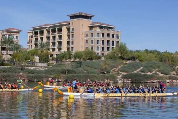 Dignity Health-St. Rose Dominican Hospitals is hosting the eighth annual Rose Regatta Dragon Boat Race and Festival on Oct. 10 at Lake Las Vegas marina. COURTESY