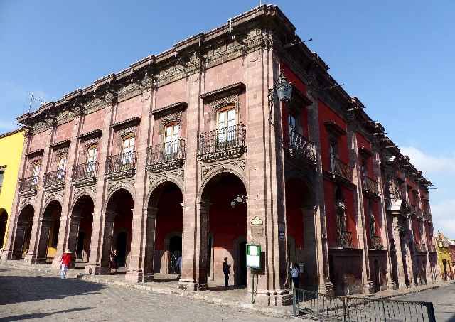 A general view shows the 18th-century Canal House mansion, which is considered by UNESCO as an architectural masterpiece for its fusion of baroque and neoclassical architecture, in San Miguel de A ...