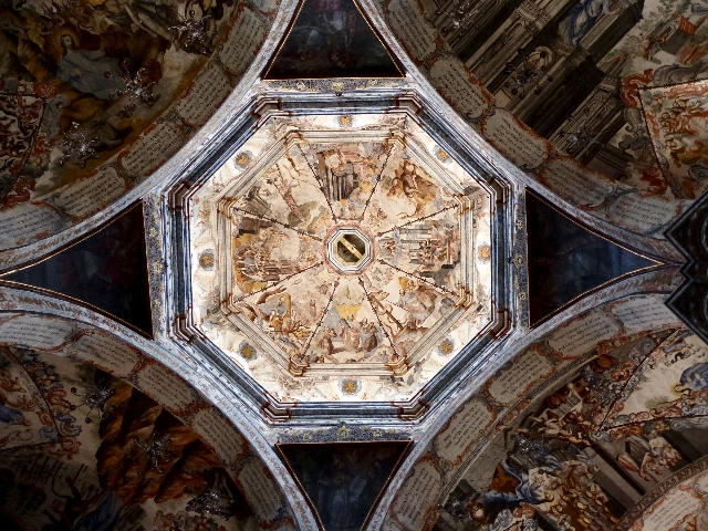 Sunlight illuminates the 18th-century cupola of the Chapel of the Cavalry at the Atotonilco Sanctuary, a UNESCO World Heritage site, in Atotonilco, on the outskirts of San Miguel de Allende, Mexic ...