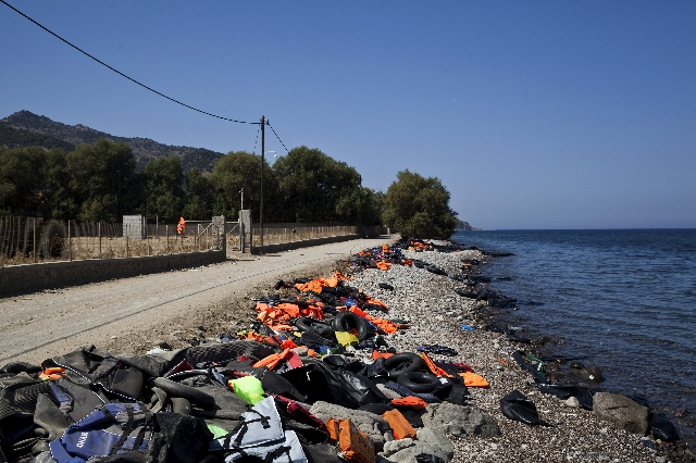 Life jackets, deflated dinghies and life tubes left behind by refugees and migrants are seen on a beach on the Greek island of Lesbos, September 4, 2015. European Union officials are preparing to  ...