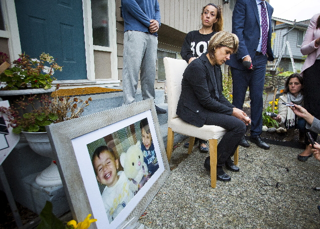 Tima Kurdi, sister of Syrian refugee Abdullah Kurdi whose sons Aylan and Galip and wife Rehan were among 12 people who drowned in Turkey trying to reach Greece, cries while speaking to the media o ...