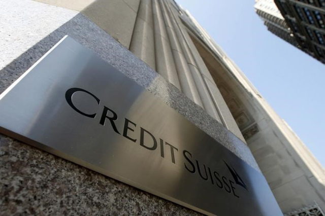 A Credit Suisse sign is seen on the exterior of their Americas headquarters in the Manhattan borough of New York City, September 1, 2015. (Mike Segar/Reuters)
