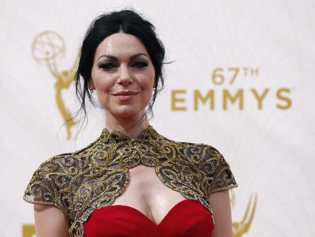 Actress Laura Prepon arrives at the 67th Primetime Emmy Awards in Los Angeles, California September 20, 2015.  REUTERS/Mario Anzuoni