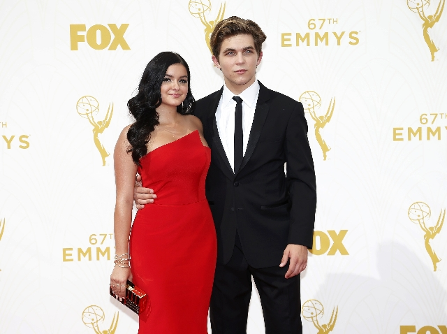 Actress Ariel Winter and her boyfriend Laurent Claude Gaudette arrive at the 67th Primetime Emmy Awards in Los Angeles, California September 20, 2015.  REUTERS/Mario Anzuoni