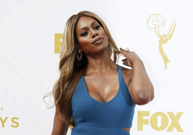 """Actress Laverne Cox from the series """"Orange is the New Black"""" arrives at the 67th Primetime Emmy Awards in Los Angeles, California September 20, 2015.  REUTERS/Mario Anzuoni"""
