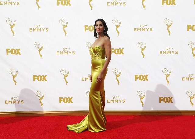 TV host Padma Lakshmi arrives at the 67th Primetime Emmy Awards in Los Angeles, California September 20, 2015.  REUTERS/Mario Anzuoni
