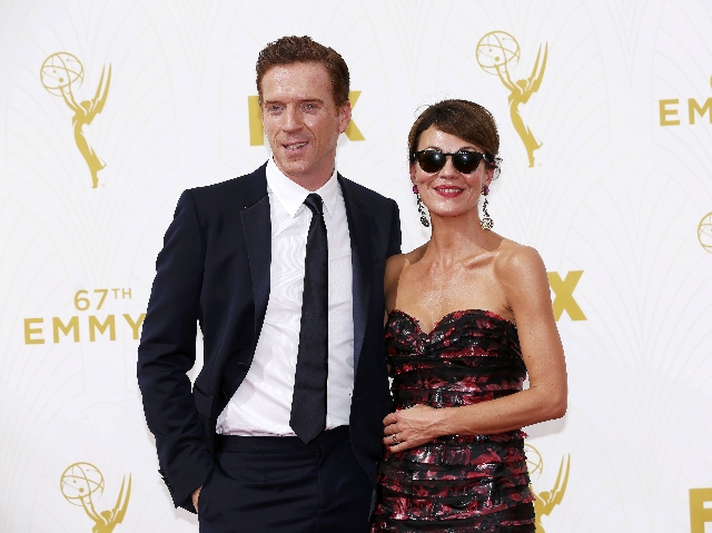Actor Damian Lewis and his wife, actress Helen McCrory, arrive at the 67th Primetime Emmy Awards in Los Angeles, California September 20, 2015. (Mario Anzuoni/Reuters)