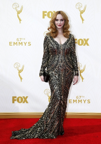Actress Christina Hendricks arrives at the 67th Primetime Emmy Awards in Los Angeles, California September 20, 2015.  REUTERS/Mario Anzuoni