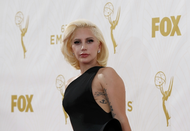 Singer Lady Gaga arrives at the 67th Primetime Emmy Awards in Los Angeles, California September 20, 2015.  REUTERS/Mario Anzuoni