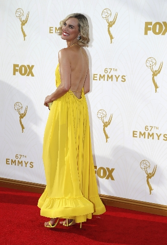 Actress Taylor Schilling arrives at the 67th Primetime Emmy Awards in Los Angeles, California September 20, 2015.  REUTERS/Mario Anzuoni