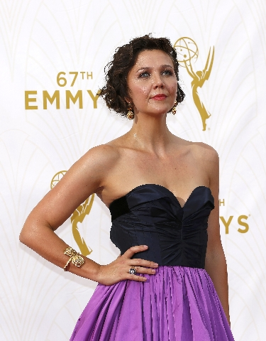 Actress Maggie Gyllenhaal arrives at the 67th Primetime Emmy Awards in Los Angeles, California September 20, 2015.  REUTERS/Mario Anzuoni