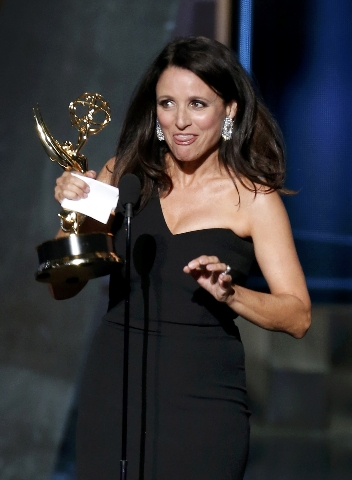 """Julia Louis-Dreyfus accepts the award for Outstanding Lead Actress In A Comedy Series for her role in HBO's """"Veep"""" at the 67th Primetime Emmy Awards in Los Angeles, California Sept ..."""